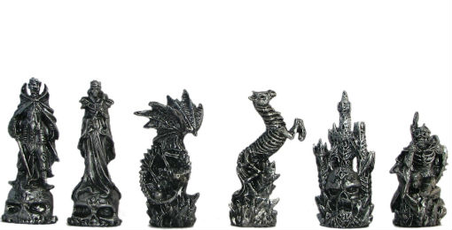 Pewter & Glass Fantasy Chess Set