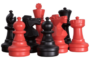 MegaChess Plastic Red Giant Chess Sets