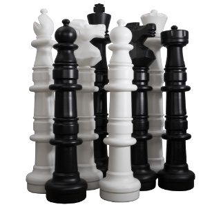 Plastic Giant Chess Pieces