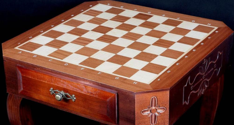 Polish Luxury Carved Chess Table