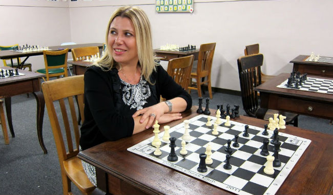 Susan Polgar at the Portland Chess Club