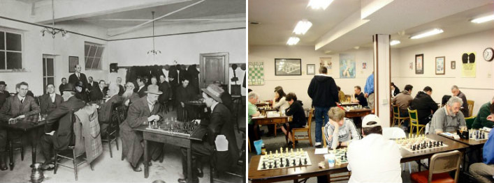 Portland Chess Club - Then and Now