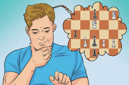 Man Thinks About His Next Chess Move