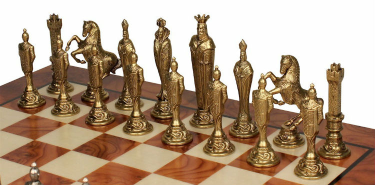 The Large Metal Renaissance Chess Set Pieces