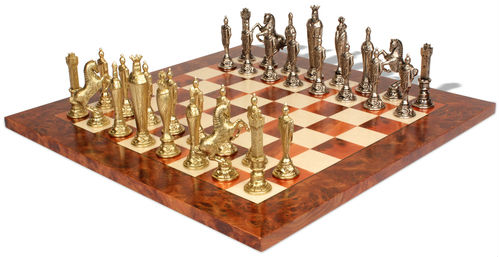 Renaissance Theme Metal Chess Pieces