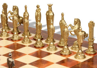 Renaissance Theme Metal Chess Set
