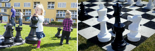 The pieces are easy to move - The Rolly Toys Giant Chess Set