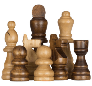 Rubber Tree Giant Chess Pieces