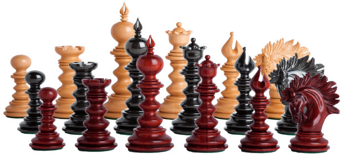 The Savano Series Luxury Wood Chess Set Pieces