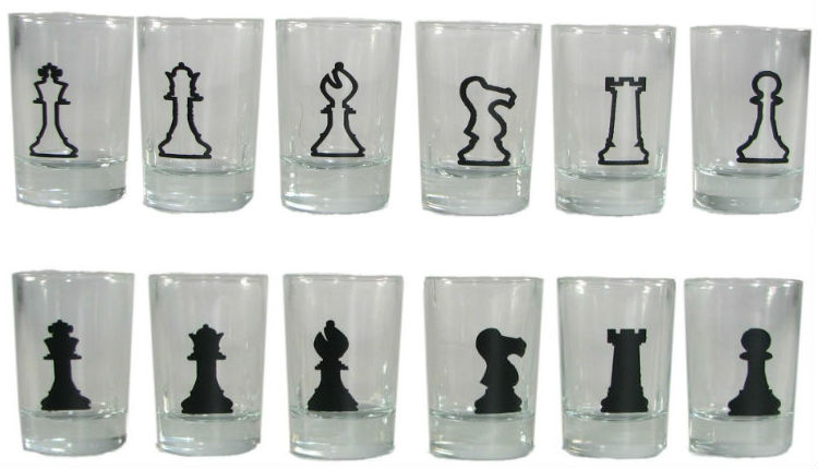 Shot Glass Chess Pieces