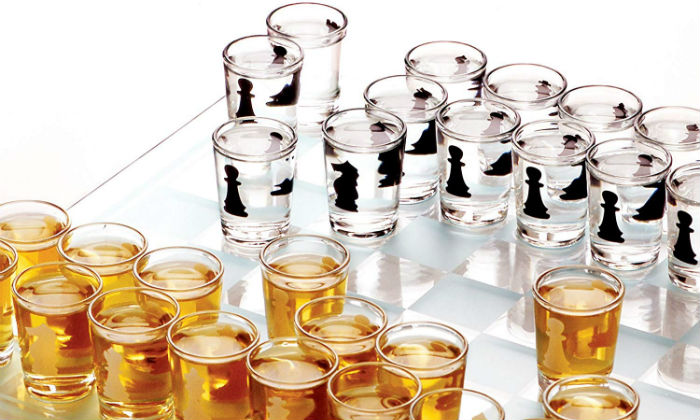 Shot Glass Drinking Chess Set