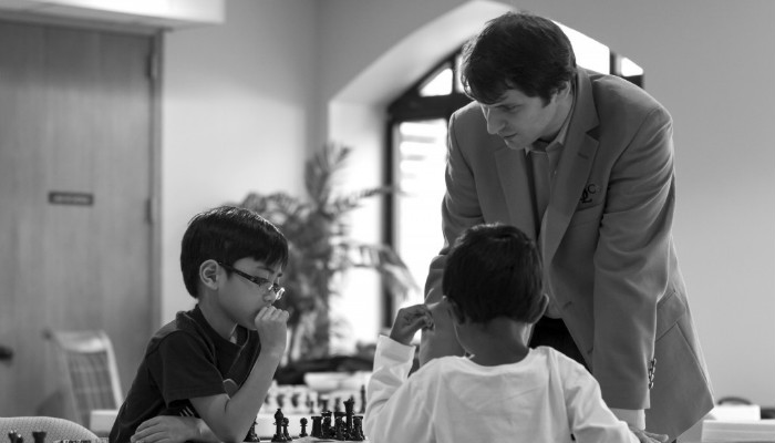 Yuri Shulman Teaching Kids to Play Chess