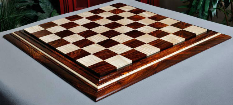 Signature Contemporary II Chess Board – Cocobolo / Curly Maple