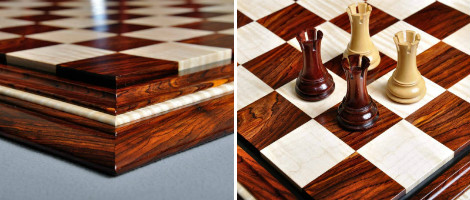 Signature Contemporary II Chess Board Cocobolo & Curly Maple