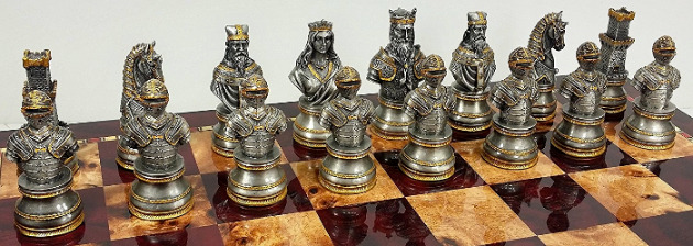 The Solid Pewter Camelot Chessmen