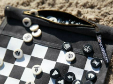 Sondergut Chess/Checkers Roll-Up Pocket Set