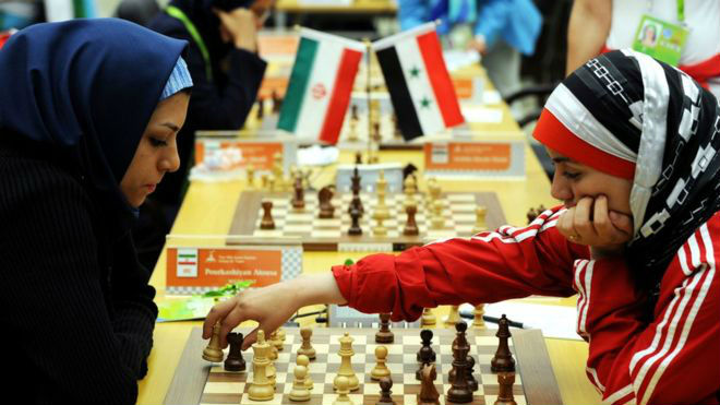 Women Chess Players Wearing Hijab