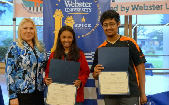 The winners of the 2016's Susan Polgar Foundation's National Open