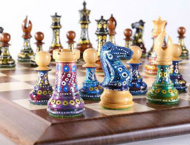 The Sydney Gruber's Painted Chess Collection