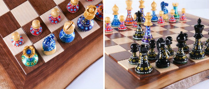 Sydney Gruber's Painted Chess Set