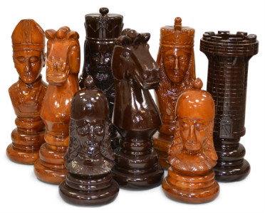 MegaChess 24 Inch Medieval Teak Giant Chess Set