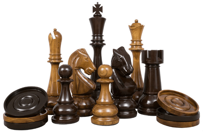 MegaChess Teak Giant Chess Set