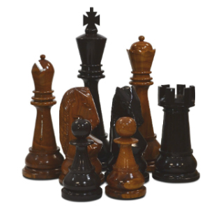 Teak Giant Chess Pieces