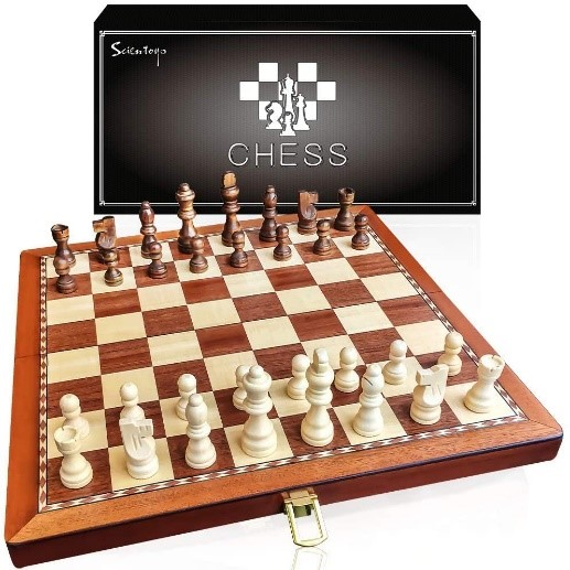 The Scientoy Store Wooden Chess Set