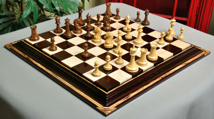 The Camaratta Signature Series Cooke Luxury Chess Set & Board Combination