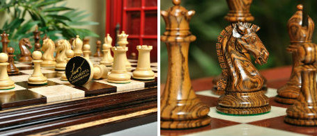 The Camaratta Signature Series Cooke Luxury Wood Chess Set & Board Combination - As Featured in Wired Magazine