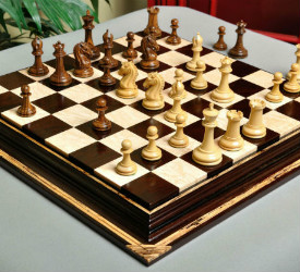 The Camaratta Signature Series Cooke Luxury Wood Chess Set