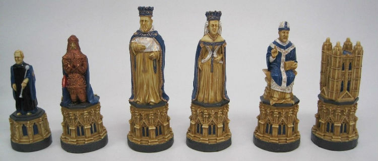 The Canterbury Cathedral Chess Set – SAC Hand-Decorated