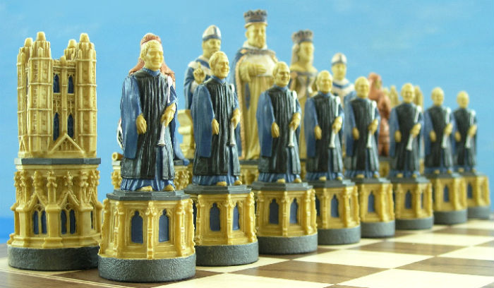 The Canterbury Cathedral Chess Set - SAC Hand-Decorated