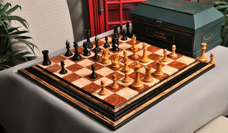 The Golden Collector Series Luxury Chess Set, Box, & Board Combination
