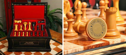 The Golden Collector Series Luxury Wood Chess Set with Box