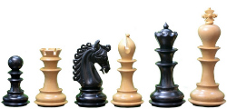 "The Hurricane Series Staunton Luxury Chess Pieces in Ebony Wood & Box Wood - 4.7"" King"