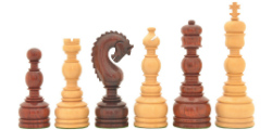 "The Luxury Handcrafted Tower Series Chess Pieces in Bud Rose / Box Wood - 5"" King"