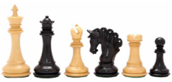 "The Pegasus Series Artisan Staunton Chess Set in Ebony / Box wood - 4.5"" King"