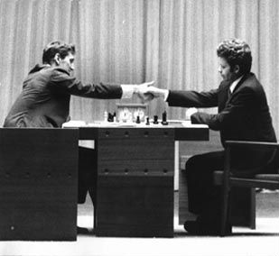 The legendary 1972 game between Boris Spassky and Bobby Fischer