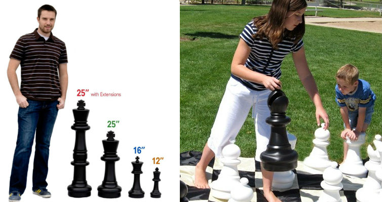 """USCF 25"""" Giant Chess Set - Includes Pieces and Board"""