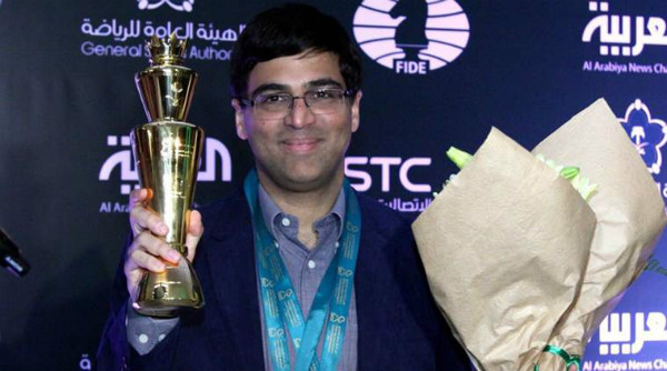 Vishy Anand Winning in a Chess Championship