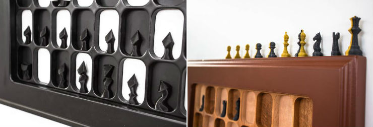 Wall Mounted Chess Board - Regular and Retro Style