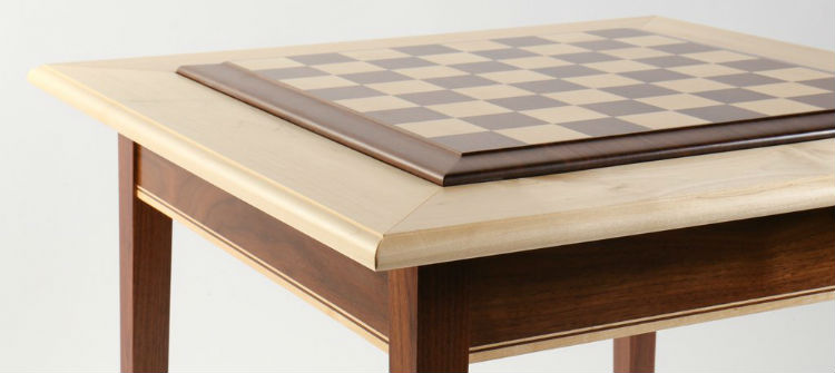Walnut Maple Premium Hardwood Chess Table & The Top 16 Finest Chess Tables | 2018 Reviews | Chess-Site.com