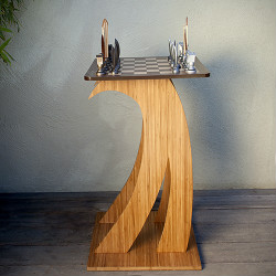 Dave Reynolds Surf Chess Set and Wave Table