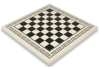 White & Black Roman Chess Board