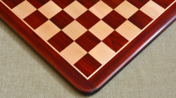 "Wooden Chess Board Blood Red Bud Rose Wood 21"" - 55 mm"
