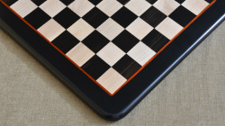 "Wooden Chess Board Genuine Ebony Wood w/o Set 18""- 45 mm"