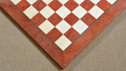 "Wooden Red Ash Burl Maple Hi Gloss Finish Chess Board 24"" - 60 mm"