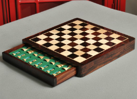 Wooden Travel Chess Set - Indian Rosewood and Maple