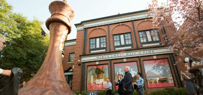 The Biggest Chess Piece in the World, Outside the World Chess Hall of Fame in Saint Louis